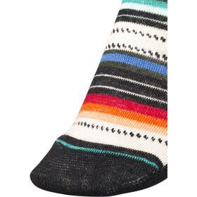 Smartwool Margarita Calcetines Mujer, black/multi stripe